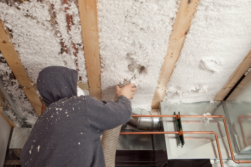 Keep out the cold with blown-in insulation